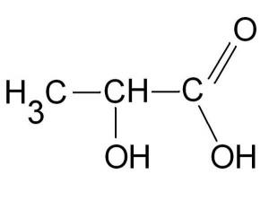 Schéma sur l'acide lactique
